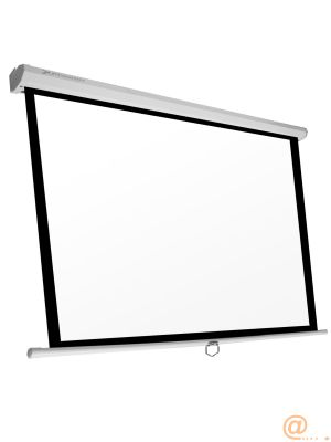 PANTALLA MANUAL VIDEOPROYECTOR PARED Y T